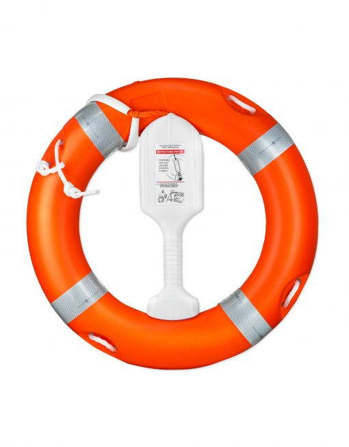life ring buoy with encapsulated throw line image