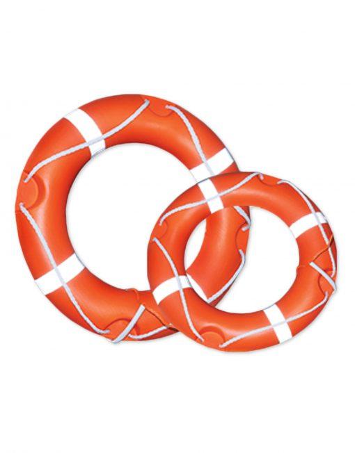 Comparison photo of 2 life buoys